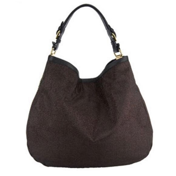orYANY Handbags - orYANY NOELLE BROWN GLITTER SHIMMER HANDBAG NWT